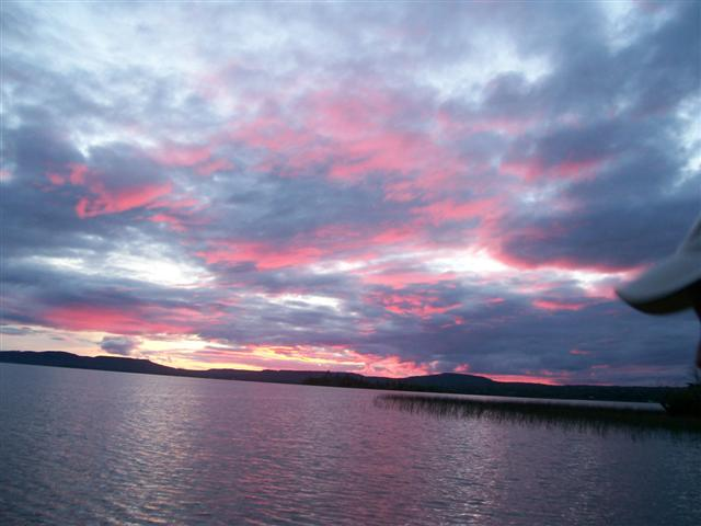 Sunset at Whitefish Lake